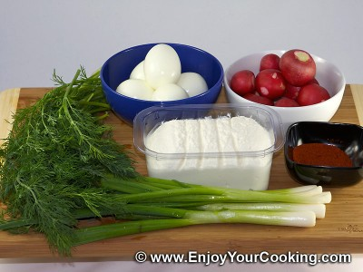 Radish and Soft Cheese Salad Recipe: Step 1