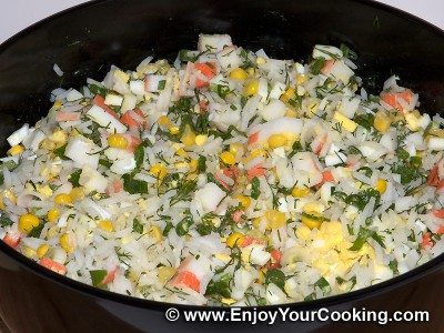 Crab Sticks & Rice Salad Recipe: Step 6