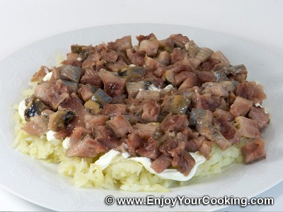 Herring Under Fur Coat (Herring Salad) Recipe: Step 4