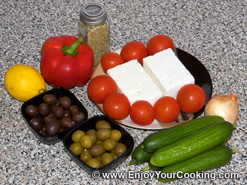 Greek salad russian variant recipe my homemade food recipes greek salad recipe step 1 forumfinder Gallery
