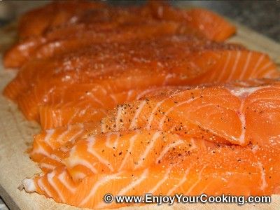 Salmon under Capers and Dill Sauce Recipe: Step 10