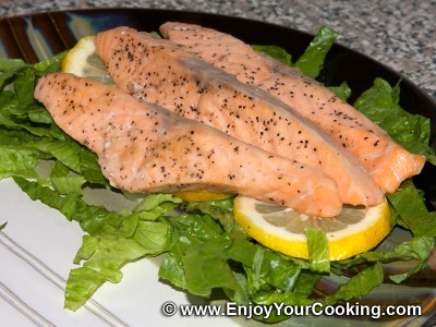 Salmon under Capers and Dill Sauce Recipe: Step 16
