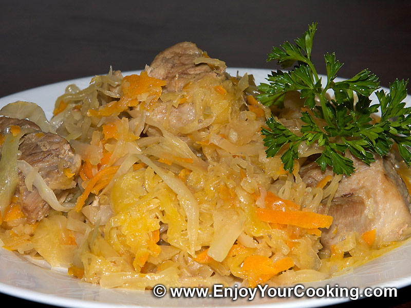 Bigos cabbage and pork stew recipe my homemade food recipes tips enjoyyourcooking - Cabbage stew recipes ...