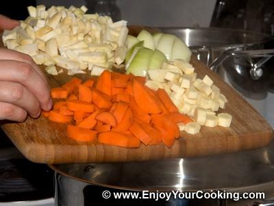Lenten Borscht with Mushroom Dumplings Recipe: Step 12