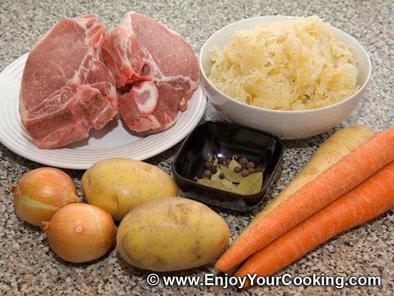 Sauerkraut and pork soup recipes