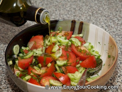 Tomatoes and Cucumbers Summer Salad Recipe: Step 7