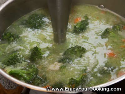 Soup Puree with Broccoli and Chicken Recipe: Step 9