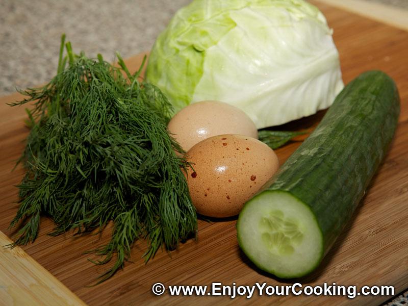 Салат из огурца мяса яйца