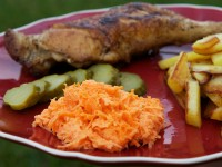 Fresh Carrots & Garlic Salad