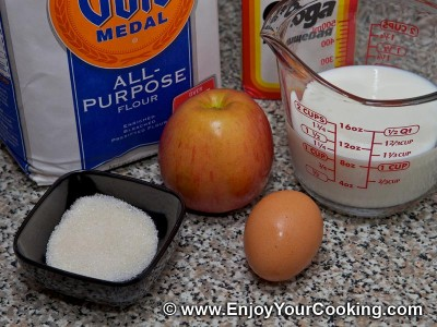 Russian Pancakes (Oladi) with Apple Recipe: Step 1