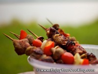 Veal Shish Kebab with Onions