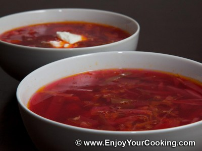 Easier Borscht with Precooked Beets and Beans