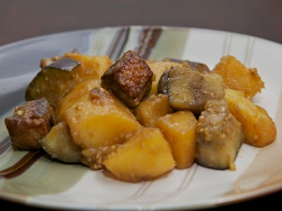 Duck Stewed with Potato and Eggplants