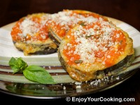 Eggplants with Tomato Basil Sauce and Parmesan