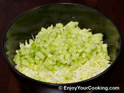 Crab Sticks Salad with Napa and Cucumber Recipe: Step 3