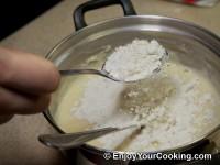 Start adding flour