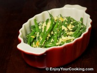 String Beans Fried with Eggs