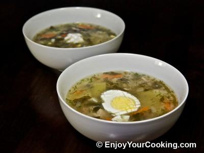 Sorrel and Pork Soup (Green Borscht)