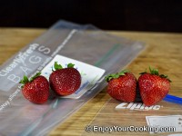 Clearly Fresh Bags vs Ziploc Review: Strawberries Result