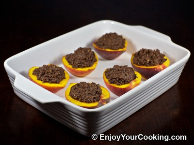 Baked Peaches with Chocolate and Ginger Stuffing Recipe: Step 11