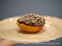 Baked Peaches with Chocolate and Ginger Stuffing