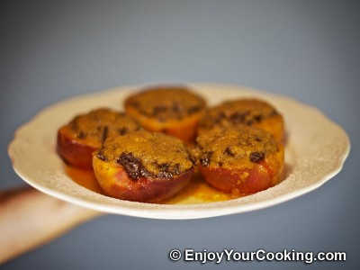 Baked Peaches with Chocolate and Ginger Stuffing Recipe: Step 15