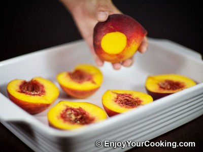 Baked Peaches with Chocolate and Ginger Stuffing Recipe: Step 9