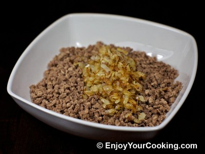 Crepes with Boiled Meat and Rice Stuffing Recipe: Step 5