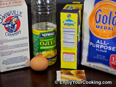 How to Make Unsweetened Yeast Dough: Step 1
