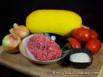 Stuffed Spaghetti Squash Recipe: Step 1