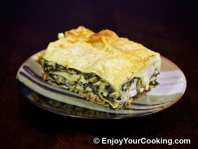 Chicken lasagna with spinach and fresh cheese recipe for Spinach chicken lasagna recipe
