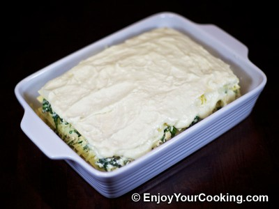 Chicken Lasagna with Spinach and Fresh Cheese Recipe: Step 21