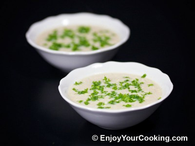 Chicken Soup-Puree with Eggs