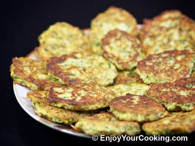 Zucchini Pancakes with Sheep Cheese
