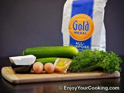 Zucchini Pancakes with Sheep Cheese Recipe: Step 1