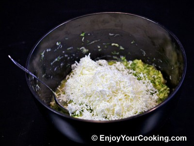 Zucchini Pancakes with Sheep Cheese Recipe: Step 11