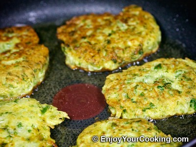 Zucchini Pancakes with Sheep Cheese Recipe: Step 17