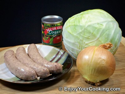 Cabbage Braised with Bratwurst Recipe: Step 1