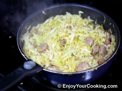 Cabbage Braised with Bratwurst Recipe: Step 5