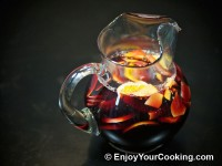 Red Wine Sangria with Peaches, Oranges and Lemons
