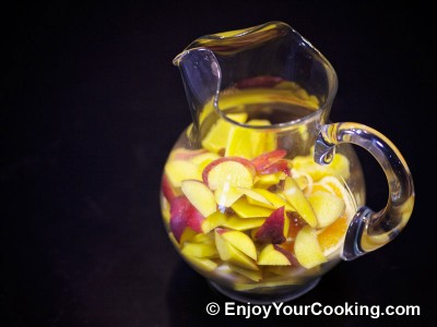 Red Wine Sangria with Peaches, Oranges and Lemons Recipe: Step 10