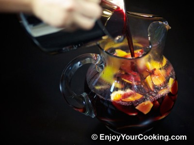 Red Wine Sangria with Peaches, Oranges and Lemons Recipe: Step 12
