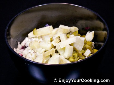 Russian Vinaigrette Salad (Salad Vinegret) Recipe: Step 6