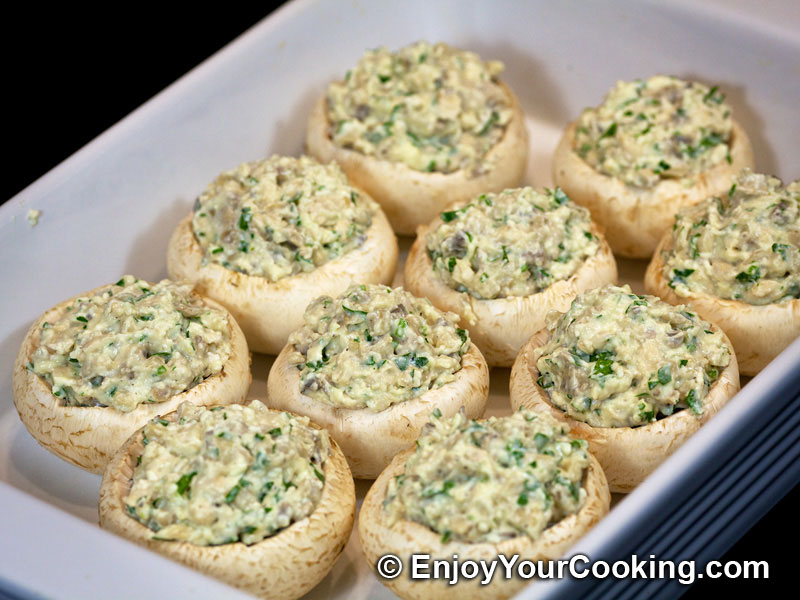 Chicken And Feta Stuffed Mushroom Caps Recipe Step 17