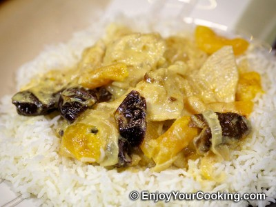 Curry Chicken with Prunes and Dried Apricots