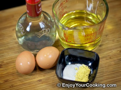 Homemade Mayo with Egg Yolks and Mustard Recipe: Step 1
