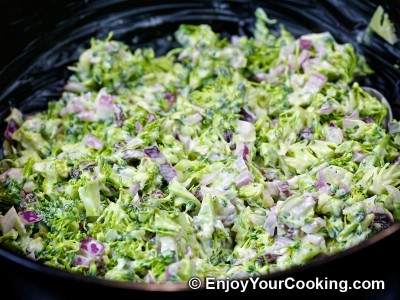 Fresh Broccoli Salad with Raisins and Sunflower Seeds Recipe: Step 8