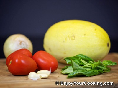 Roasted Spaghetti Squash with Tomato Basil Sauce  Recipe: Step 1