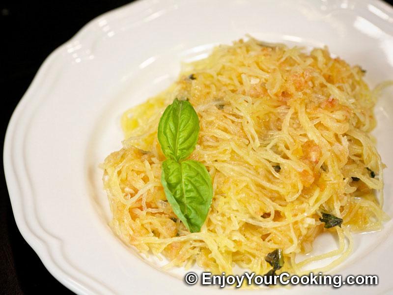 Roasted Spaghetti Squash with Tomato Basil Sauce | Recipe ...