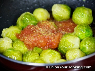 Brussels Sprouts in Tomato and Soy Sauce Recipe: Step 10